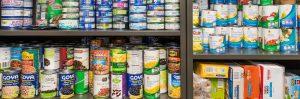 shelf full of non-perishable items